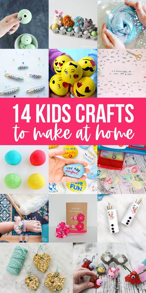 If you're stuck at home due to sickness or school cancellation, these 14 kids crafts are a wonderful way to stay occupied and creative.