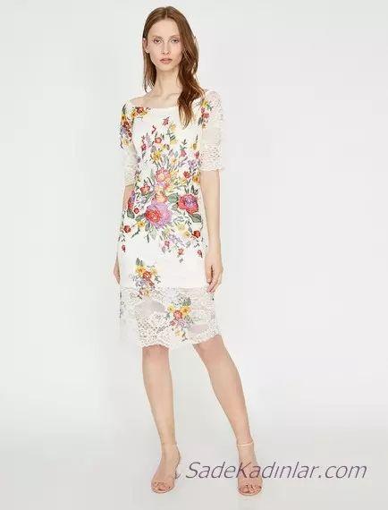 Koton Beyaz Elbise Modelleri Ile Bas Dondurucu Siklik 2020 Elbise Modelleri Elbise Midi Elbise