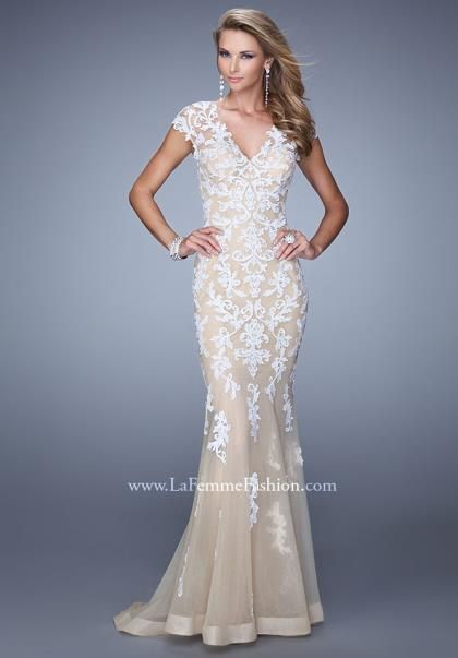 6e2849c7f02 La Femme 21283 at Prom Dress Shop  2015prom  promdress  lafemme  gold   sparkles  lace  pretty  promdress  jersey  mermaid