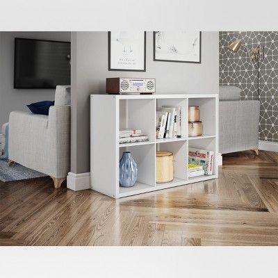 13 6 Cube Organizer Shelf White Threshold 6 Cube Organizer