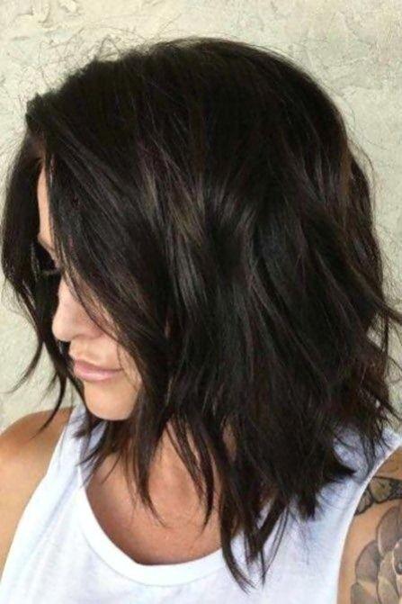 Medium Length Hair Choppy Haircuts In 2020 Bob Frisur Dickes Haar Frisur Dicke Haare Bob Frisur