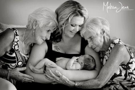 Four generations of beautiful, strong women.