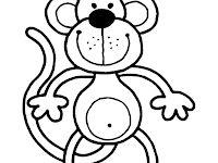 Mewarnai Gambar Hewan Monki Si Monyet Lucu