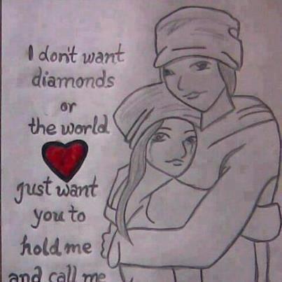 I don't want diamonds...