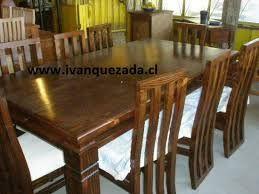 Resultado de imagen para sillas de comedor rusticas en ...