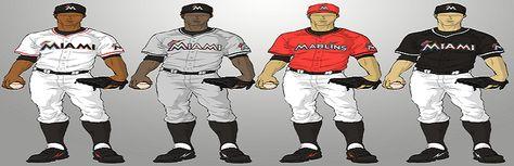 Miami Marlins Uniform Combo
