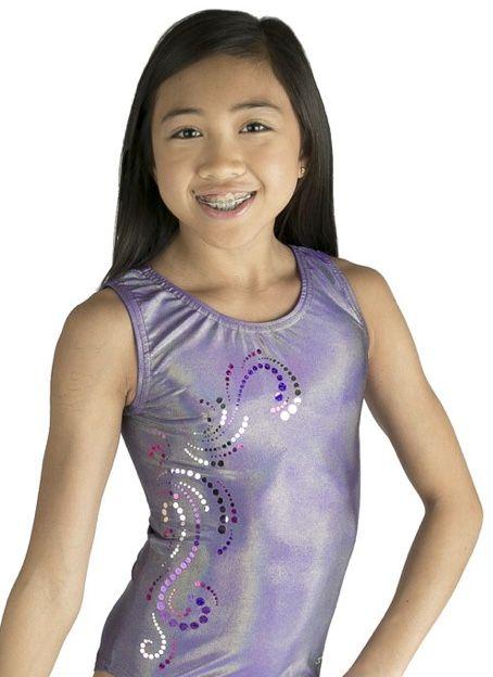 purple and lavender swirl tank leotard