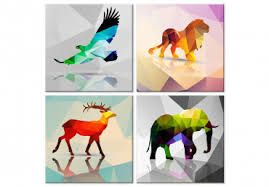 Animales Geometricos A Color