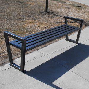 Paris Equipment Decora 6 Ft Outdoor Steel Backless Bench