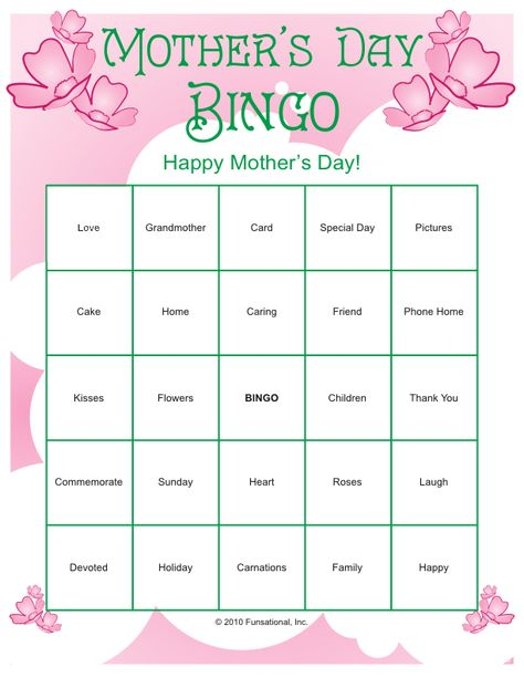 picture relating to Free Printable Mother's Day Games for Adults referred to as Pinterest