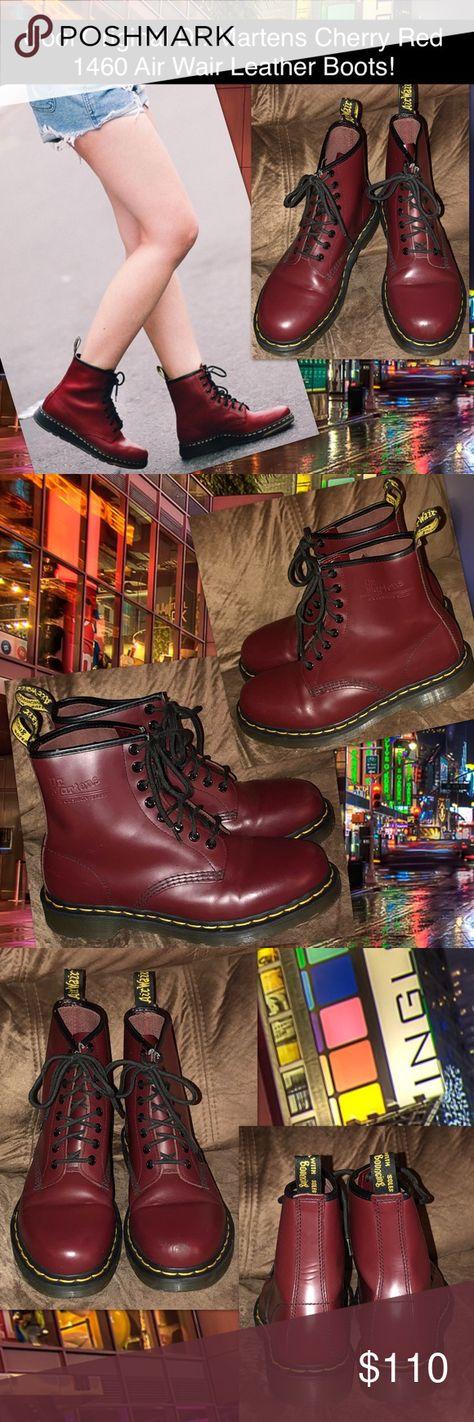 1d855d6e3f450 Original Dr. Martens Red 1460 Air Wair Boots! Cool Original Dr. Martens  Cherry