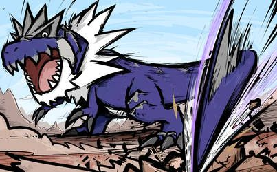 Shiny Tyrantrum Dragon Tail By Ishmam Dragon Type