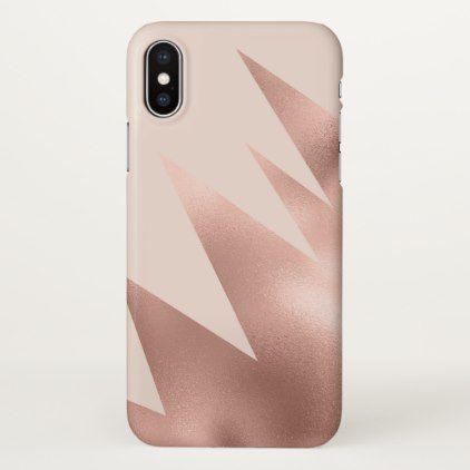 Modern Girly Rose Gold Blush Pink Geometric Iphone Case Zazzle Com Geometric Iphone Case Geometric Iphone Iphone Cases