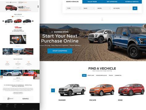 Car Dealership Website Template Sketch Freebie