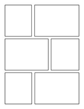 Blank Comic Strip Pack Comic Book Template Comic Book Layout Comic Layout