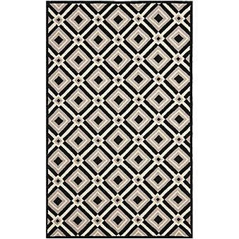 Rug Runner With Black Border Bed Bath Beyond Black And Grey