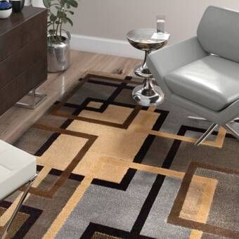 Nolan Modern Geometric Beige Brown Black Area Rug Black Area Rugs Brown Area Rugs Area Rugs
