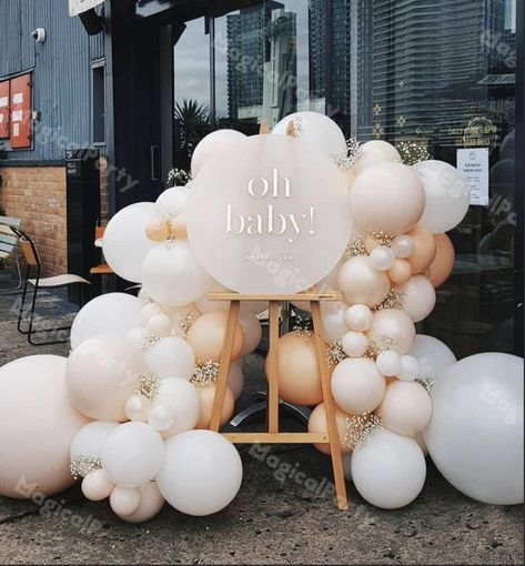 Fotos Baby Shower, Deco Baby Shower, Baby Shower Balloons, Shower Party, Baby Shower Parties, Baby Shower Themes, Baby Boy Shower, Bridal Shower, Baby Shower Balloon Decorations