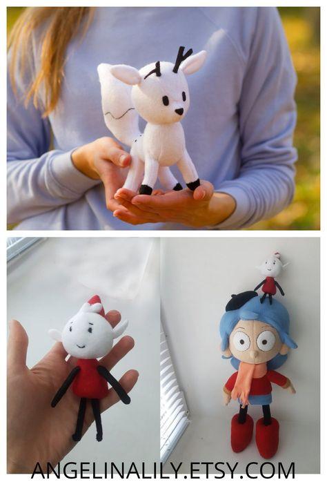 Twig white fox Twig the deerfox made to order 30 cm minky Twig Doll Hilda and Twig Custom toy inspired by Twig plush Hilda toy