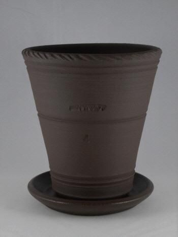 Spc1098 9 Ben Wolff 2 Flower Pot In White Clay Sealed Saucer With Cork Pads 5 5 H X 5 5 W Only 1 Available Flower Pots White Clay Clay