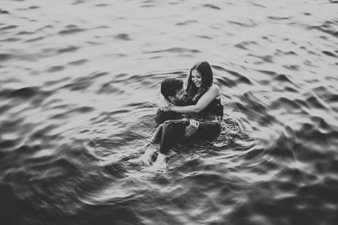 Intimate Ocean Engagement Photos at Lighthouse Park