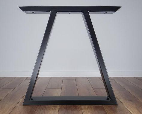 Metall Esstisch Beine Satz Von 2 Dreieck Form Moderne Stahl