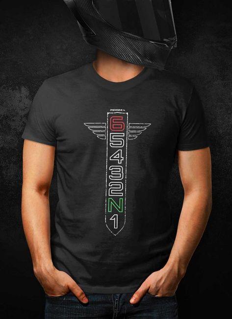 Motorcycle Gear Shift Racing 1n23456 T Shirt Camisetas Playeras