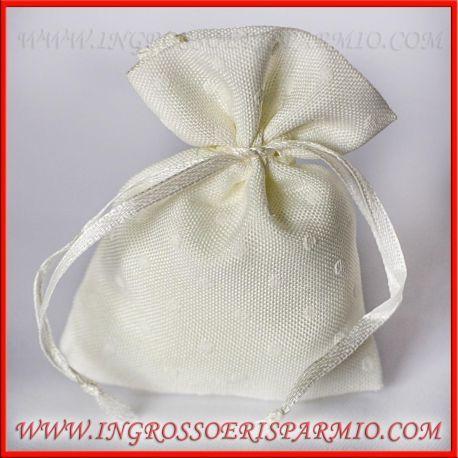 Bomboniere Sacchettini Confezioni In Cotone Bianco A Pois Con Confetti Economici Matrimonio Wedding Cotone Bianco Matrimonio Bomboniere