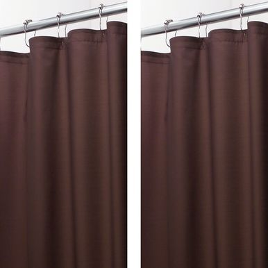 Mdesign Water Repellent Fabric Shower Curtain Liner 108 X 72 Brown Fabric Shower Curtains Curtains Shower