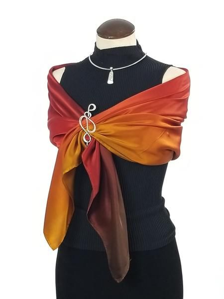 3d2582d9010 A walk in the woods - Hand Painted Silk Scarf / Wrap | Scarves ...