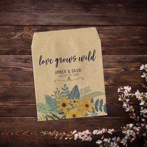 Seed Packet Favor, Custom Seed Packets, Boho # @EtsyMktgTool #seedpackets #seedfavors #weddingfavors #weddingseedfavor #wildflowerseeds
