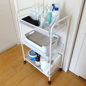 Ikeaのhornavan ホールナヴァンワゴン 収納アイデアや使い方をブログレポート 収納 アイデア インテリア 収納 ニトリ 収納