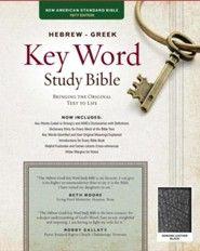 NASB Hebrew-Greek Key Word Study Bible, genuine leather, black-indexed