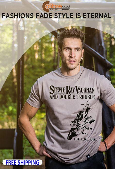 Stevie Ray Vaughan Live Alive Tour Black Adult T-Shirt