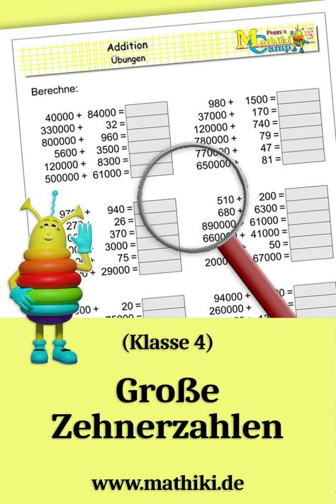 520 Mathe (Klasse 4)-Ideen in 2021 | mathe, matheaufgaben ...
