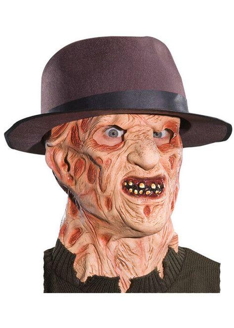 Adult Deluxe Freddy Krueger Mask 82686041737  eBay #Ad , #Affiliate, #Freddy#Deluxe#Adult