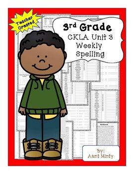 Ckla 3rd Grade Unit 3 Spelling Unit Skills Strand Spelling