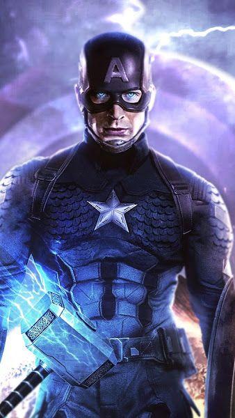 Avengers Endgame Captain America Thor Hammer 4k 3840x2160