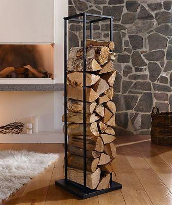 Aufbewahrung Kaminholz kaminholzregal drinnen wohnzimmer firewood storage