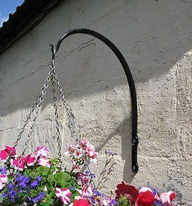Swan Neck Wrought Iron Hanging Basket Bracket Basket Bracket