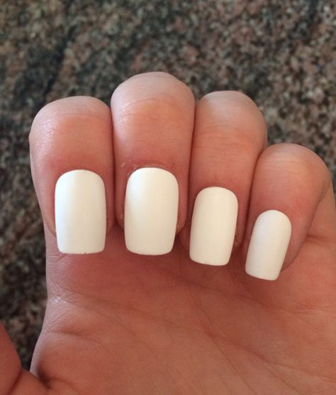 White nails, matte fake nails, acrylic nails by nailsbykate on Etsy https://www.etsy.com/listing/211684623/white-nails-matte-fake-nails-acrylic