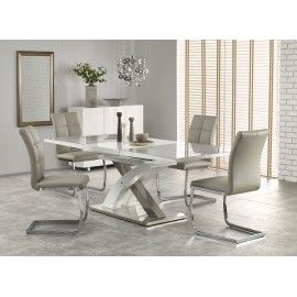 table a manger design blanche et grise