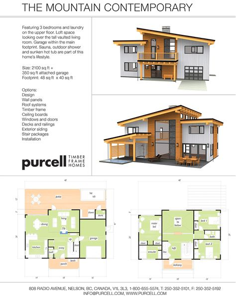 Purcell Timber Frames - The Precrafted Home Company - The Mountain Contemporary