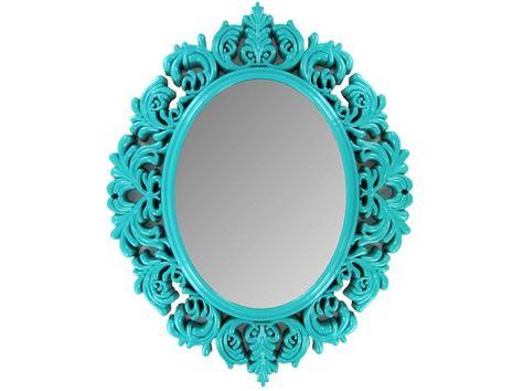 Turquoise Victorian Mirror  Hobby lobby