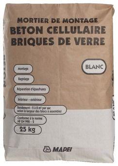 Montage Beton Cellulaire Et Paves De Verre Env 6 5 M Par Sac Beton Cellulaire Beton Pave De Verre