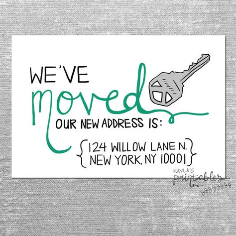 We Ve Moved Card With Custom Address 4x6 Printed Card With
