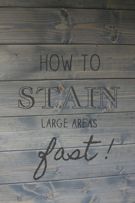 Planking, Staining, and Progress!  {GIVEAWAY!}