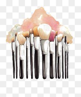 Makeup Brush Makeup Clipart Brush Clipart Cartoon Makeup Brush Png Image And Clipart Makeup Clipart Makeup Backgrounds Loose Powder Makeup