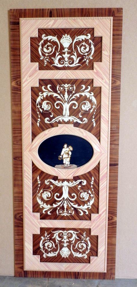 """Pannello porta intarsiato per porta scorrevole mod. """"Delfini"""" Inlaid panel for sliding door mod. """"Dolphins"""" info@mobiliaresi.com"""