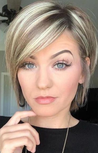 Trending Hairstyles 2019 Short Layered Hairstyles Evesteps Shorthairstyles In 2020 Haircuts For Fine Hair Hair Styles Bob Haircut For Fine Hair